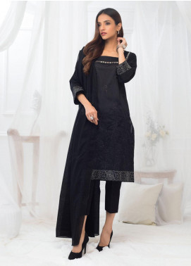 Al Zohaib Embroidered Lawn Unstitched 3 Piece Suit AZ20BW 03 - Black & White Collection