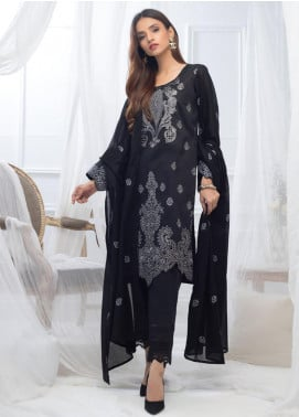 Al Zohaib Embroidered Lawn Unstitched 3 Piece Suit AZ20BW 04 - Black & White Collection