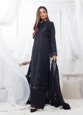 Al Zohaib Embroidered Lawn Unstitched 3 Piece Suit AZ20BW 09 - Black & White Collection