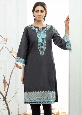 Al Zohaib Embroidered Denim Unstitched Kurties AZ19DT 05 - Formal Tunic Collection