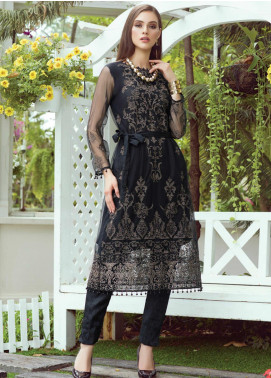 Al Zohaib Embroidered Net Unstitched Kurties AZ20F D-04 - Formal Collection