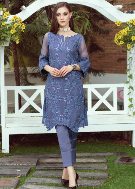 Al Zohaib Embroidered Organza Unstitched Kurties AZ20F D-06 - Formal Collection