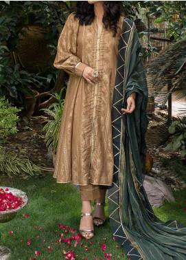 Al Zohaib Embroidered Jacquard Unstitched 3 Piece Suit AZ20JS 09 - Summer Collection