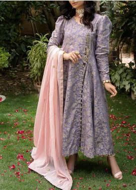 Al Zohaib Embroidered Jacquard Unstitched 3 Piece Suit AZ20JS 12 - Summer Collection