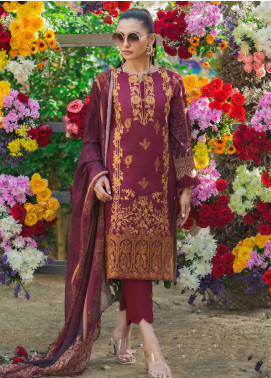 Al Zohaib Embroidered Lawn Unstitched 3 Piece Suit AZ19SA 02 - Spring / Summer Collection