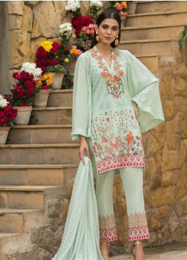 Al Zohaib Embroidered Lawn Unstitched 3 Piece Suit AZ19SA 3B - Spring / Summer Collection
