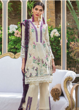 Al Zohaib Embroidered Lawn Unstitched 3 Piece Suit AZ19SA 5A - Spring / Summer Collection