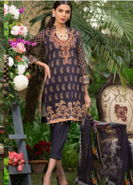 Al Zohaib Embroidered Lawn Unstitched 3 Piece Suit AZ19SA 6B - Spring / Summer Collection