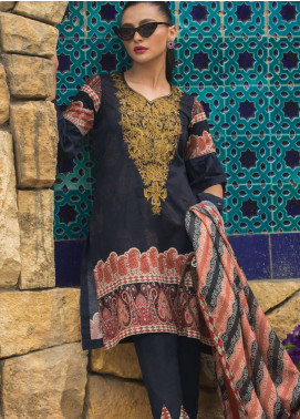 Al Zohaib Embroidered Lawn Unstitched 3 Piece Suit AZ19SA 7A - Spring / Summer Collection