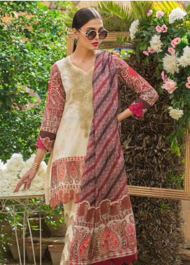 Al Zohaib Embroidered Lawn Unstitched 3 Piece Suit AZ19SA 7B - Spring / Summer Collection