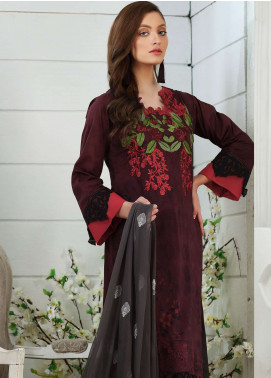 Al Zohaib Embroidered Lawn Unstitched 3 Piece Suit AZ19SA PR-02 - Spring / Summer Collection