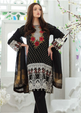 Al Zohaib Embroidered Jacquard Unstitched 3 Piece Suit AZ19SA PR-06 - Spring / Summer Collection