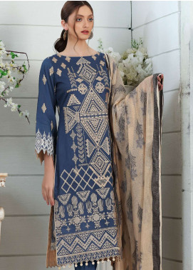 Al Zohaib Embroidered Lawn Unstitched 3 Piece Suit AZ19SA PR-08 - Spring / Summer Collection