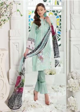 Al Zohaib Embroidered Lawn Unstitched 3 Piece Suit AZ19SA PR-10 - Spring / Summer Collection