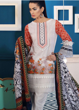 Al Zohaib Printed Lawn Unstitched 3 Piece Suit AZ19SA PS-14A - Spring / Summer Collection