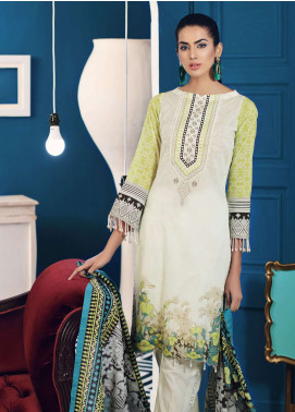 Al Zohaib Printed Lawn Unstitched 3 Piece Suit AZ19SA PS-14B - Spring / Summer Collection