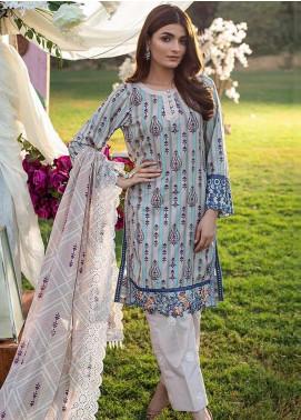 Sunshine Bloom by Al Zohaib Embroidered Cotton Satin Unstitched 3 Piece Suit AZ20CS 1B - Winter Collection