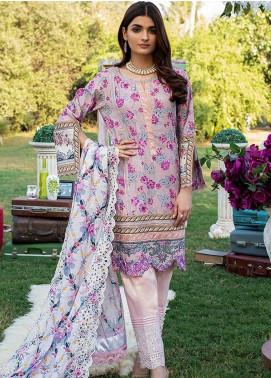 Sunshine Bloom by Al Zohaib Embroidered Cotton Satin Unstitched 3 Piece Suit AZ20CS 5A - Winter Collection