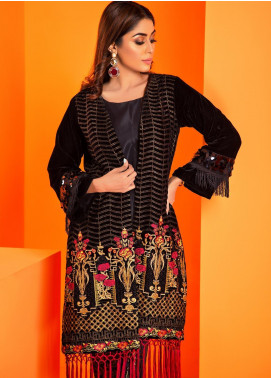Al Zohaib Embroidered Velvet Unstitched Kurties AZ19V 01 Daria - Luxury Collection
