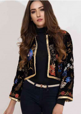 Al Zohaib Embroidered Velvet Unstitched Kurties AZ18-V2 01 - Winter Collection