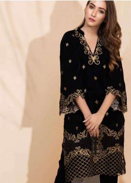Al Zohaib Embroidered Velvet Unstitched Kurties AZ18-V2 05 - Winter Collection