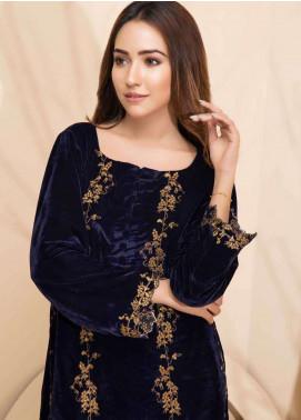 Al Zohaib Embroidered Velvet Unstitched Kurties AZ18-V2 06 - Winter Collection