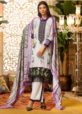 Al Zohaib Embroidered Linen Unstitched 3 Piece Suit AZ19W 07B - Winter Collection