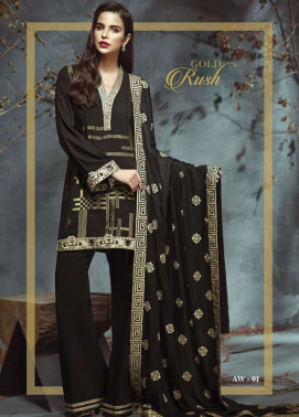 Anaya by Kiran Chaudhry Embroidered Viscose Unstitched 3 Piece Suit AL17W 01
