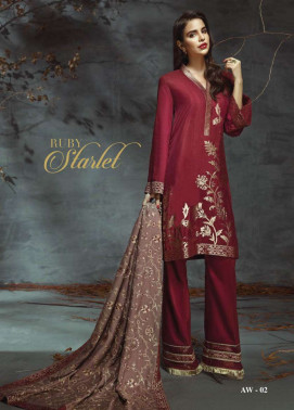 Anaya by Kiran Chaudhry Embroidered Linen Unstitched 3 Piece Suit AL17W 02