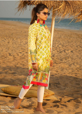 Ala Rasi Printed Lawn Unstitched Kurties AR20L 06 GOLDILOCKS - Summer Collection