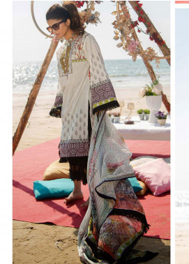 Ala Rasi Printed Lawn Unstitched 3 Piece Suits AR20L 10 PEARLESCENT - Summer Collection