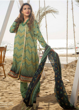Ala Rasi Printed Lawn Unstitched 3 Piece Suits AR20L 13 CHUNDRI - Summer Collection