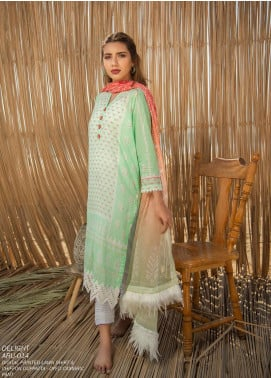 Ala Rasi Printed Lawn Unstitched 3 Piece Suits AR20L 14 DELIGHT - Summer Collection