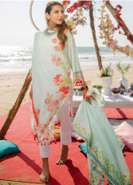 Ala Rasi Printed Lawn Unstitched 3 Piece Suits AR20L 17 FLORAL SPIRALS - Summer Collection