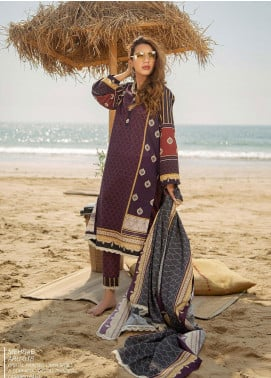 Ala Rasi Printed Lawn Unstitched 3 Piece Suits AR20L 18 MEHRAB - Summer Collection