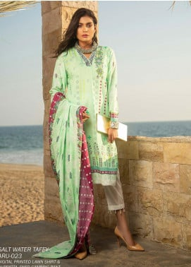 Ala Rasi Printed Lawn Unstitched 3 Piece Suits AR20L 23 SALT WATER TAFFY - Summer Collection