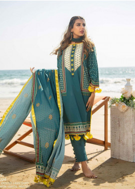 Ala Rasi Printed Lawn Unstitched 3 Piece Suits AR20L 24 AZURE - Summer Collection