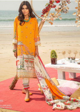 Ala Rasi Printed Lawn Unstitched 3 Piece Suits AR20L 27 CYPESS TREE - Summer Collection
