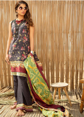 Ala Rasi Printed Lawn Unstitched 3 Piece Suits AR20L 31 DARK HORSE - Summer Collection