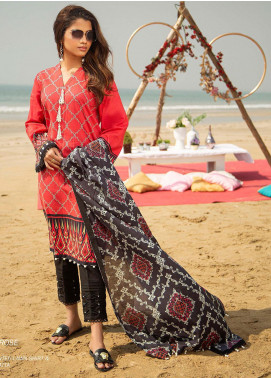 Ala Rasi Printed Lawn Unstitched 2 Piece Suits AR20L 32 DESERT ROSE - Summer Collection