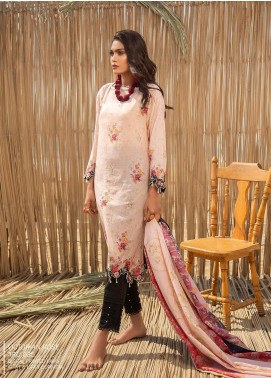 Ala Rasi Printed Lawn Unstitched 2 Piece Suits AR20L 35 VICTORIAN ROSE - Summer Collection