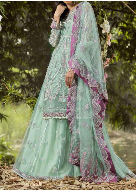 ALIF by AJR Couture Embroidered Net Unstitched 3 Piece Suit AJR20A 05 Laurel - Luxury Collection