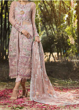 ALIF by AJR Couture Embroidered Net Unstitched 3 Piece Suit AJR20A 06 Primrose - Luxury Collection