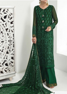 Alizeh Fashion by Bilal Embroidered Chiffon Unstitched 3 Piece Suit BL20A 12-ARCADIA GRACE - Luxury Collection