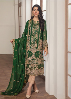 Alizeh Fashion by Bilal Embroidery Embroidered Chiffon Unstitched 3 Piece Suit AFB20-C2 01 Finani - Luxury Collection