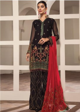 Alizeh Fashion by Bilal Embroidery Embroidered Chiffon Unstitched 3 Piece Suit AFB20-C2 02 Neirin - Luxury Collection