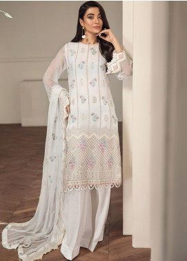 Alizeh Fashion by Bilal Embroidery Embroidered Chiffon Unstitched 3 Piece Suit AFB20-C2 04 Inara - Luxury Collection
