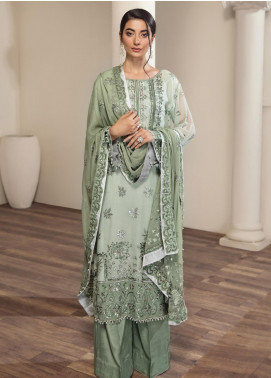 Alizeh Fashion by Bilal Embroidery Embroidered Chiffon Unstitched 3 Piece Suit AFB20-C2 07 Rahmi - Luxury Collection