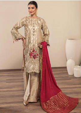 Alizeh Fashion by Bilal Embroidery Embroidered Zari Unstitched 3 Piece Suit AFB20-C2 09 Sila - Luxury Collection