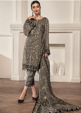 Alizeh Fashion by Bilal Embroidery Embroidered Chiffon Unstitched 3 Piece Suit AFB20-C2 10 ilara - Luxury Collection